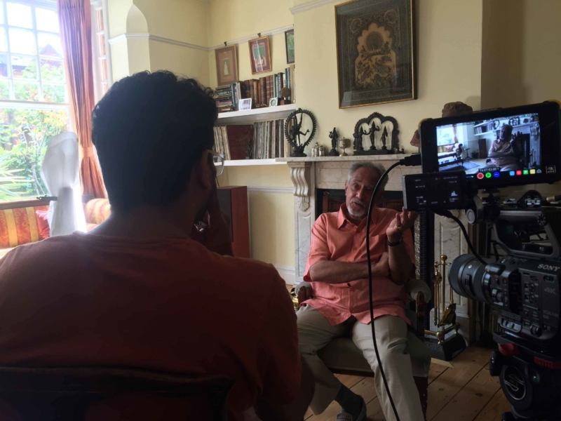 An interview in the production of the 400 Years web video series